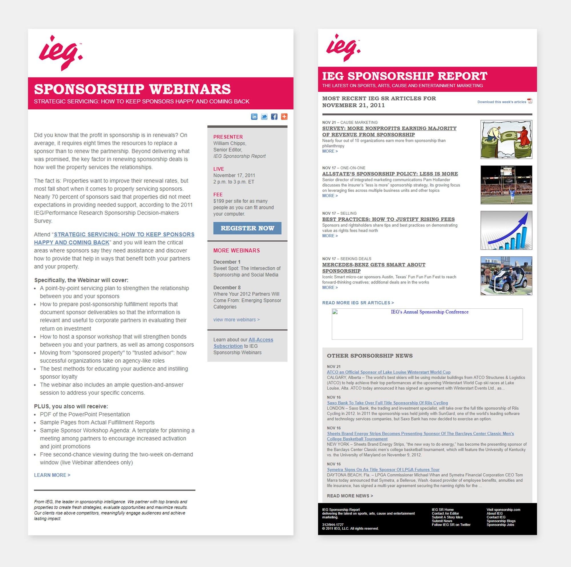 IEG newsletter template